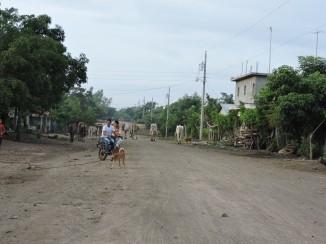 Calles de la comunidad de El Triunfo