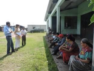 Equipo de trabajo comunidad de El Triunfo