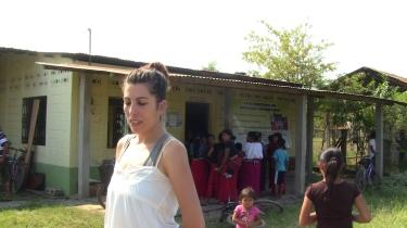 Entrada-Sala de espera de la clínica de la comunidad de El Triunfo