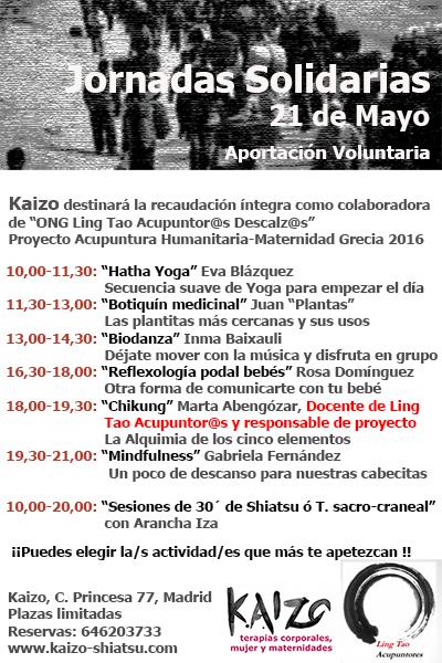 Jornadas solidarias Mayo peque