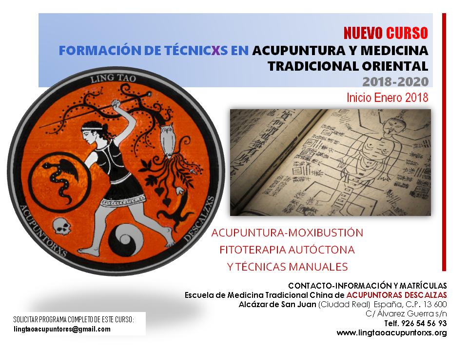 NUEVO CURSO de ACUPUNTURA-MOXIBUSTIÓN  Y MEDICINA TRADICIONAL ORIENTAL. Inicio Enero2018