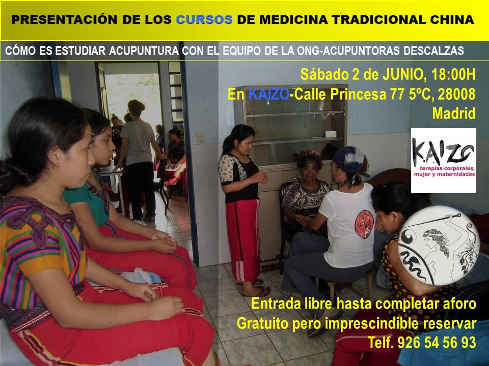 Sábado 2 Junio, MADRID, PRESENTACIÓN curso de MedicinaChina