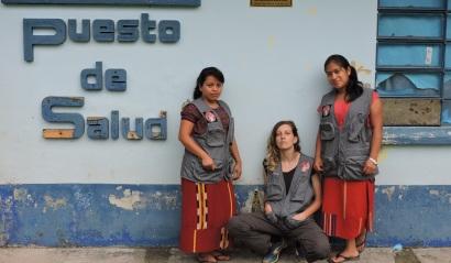 Acupuntoras Descalzas del equipo de Guatemala y España 2018, puesto de salud San Antonio, Zona Reyna